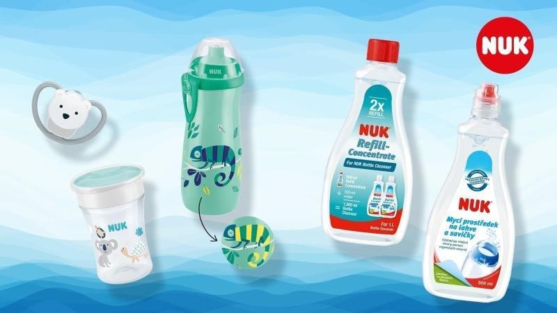 Učící lahvičky a hrnečky musí být bezpečné i zábavné. Zdroj: NUK.