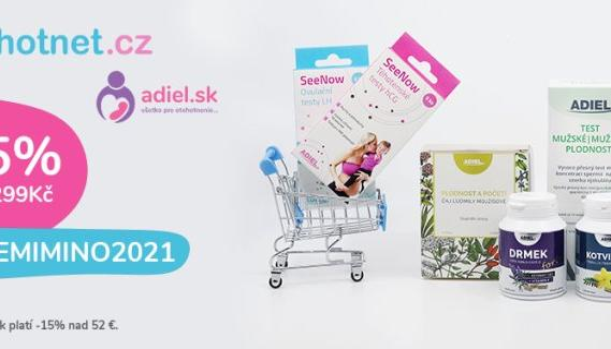 Využijte kódu a získejte 15% slevu pro nákup! otěhotnět.cz.