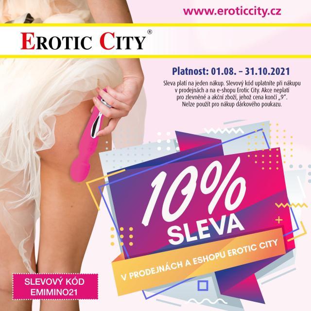 Slevový kupón Erotic City ve výši 10% s platností do 31.10.2021
