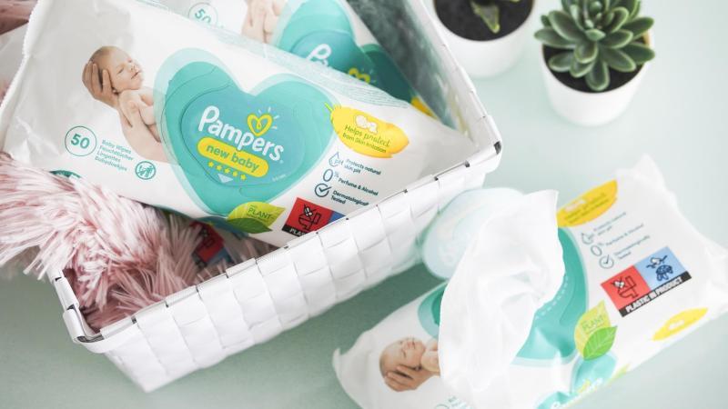 Hygienické pomůcky pro miminko včetně vlhčených ubrousků
